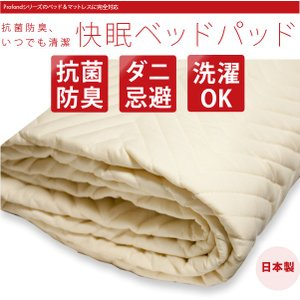 ベッドパッド 敷きパッド 抗菌防臭 いつでも清潔快眠 クィーン|2e-unit