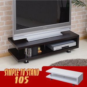 シンプルテレビボード幅105 テレビ台 TVボード AVボード|2e-unit