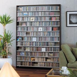 CDラック 大容量 幅139cm CD1668枚収納 コレクター仕様 CD 収納 木製 スリム おし 送料無料|2e-unit