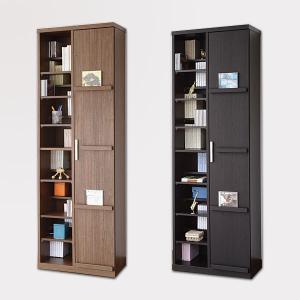 たっぷり収納の飾れる本棚 書棚 Baron タイプ1 幅59.4cm×高さ180cm 本棚 ラック  本州と四国は開梱設置料込み|2e-unit