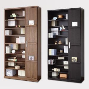 たっぷり収納の飾れる本棚 書棚 Baron タイプ2 幅89cm×高さ180cm 本棚 ラック ブ  本州と四国は開梱設置料込み|2e-unit