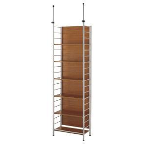 スクリーンラック 幅60cm×高さ208〜290cm 天井つっぱり ラック 壁面本棚 本棚 壁面収納 送料無料|2e-unit