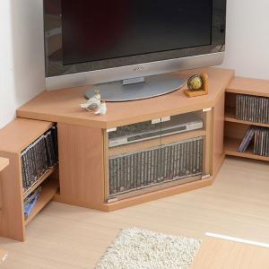 テレビ台 コーナー ローボード 三角コーナーテレビ台 ロータイプ ナチュラル TV台 スライド式収 送料無料 2e-unit