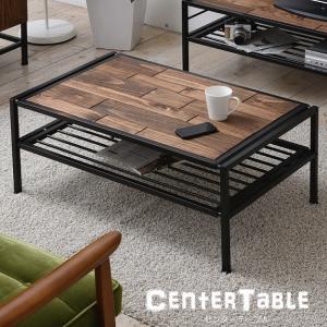 センターテーブル 天然木 テーブル ローテーブル リビングテーブル 北欧 木製 アイアン おしゃれ オイル アンティーク 植物性オイル 塗装 2e-unit