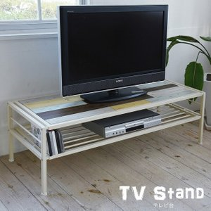 テレビ台 天然木 北欧 木製 ローボード AVボード 収納家具 アイアン おしゃれ アンティーク 塗装 2e-unit