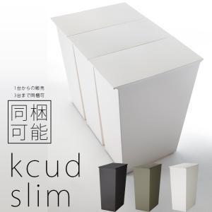 ゴミ箱 おしゃれ ダストボックス 45L 分別 北欧 「 kcud スリム」 縦型 ダストボックス ごみ箱 ふた付き キッチン|2e-unit