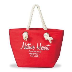 ランチトートバッグ 保冷ランチバッグ Native Heart [レッド]|2e-unit