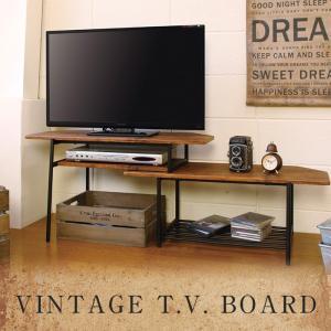 テレビ台 コーナー ハイタイプ 伸縮 スライド式 ビンテージ 80cm 130cm リビングボード|2e-unit