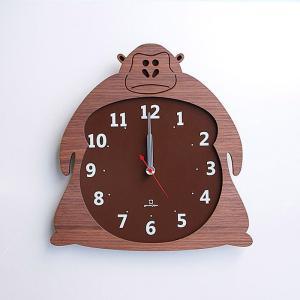 ヤマト工芸 ZOO ゴリラ YK14-003 壁掛け時計 アニマル動物 子供部屋 シンプル モダン おしゃれ かわいい 掛け時計 掛時計 時計 日本製|2e-unit