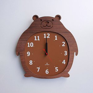ヤマト工芸 ZOO クマ 熊 YK14-003 壁掛け時計 アニマル動物 子供部屋 シンプル モダン おしゃれ かわいい 掛け時計 掛時計 時計 日本製|2e-unit