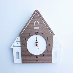 ヤマト工芸 DOUWA HOUSE W ホワイト YK14-001 壁掛け時計 シンプル モダン おしゃれ かわいい 掛け時計 掛時計 ウォールクロック CLOCK 時計 日本製|2e-unit