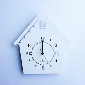 ヤマト工芸 DOUWA HOUSE S ホワイト YK14-002 壁掛け時計 シンプル モダン おしゃれ かわいい 掛け時計 掛時計 ウォールクロック CLOCK 時計 日本製|2e-unit