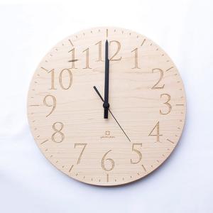 ヤマト工芸 MUKU エン メープル YK15-102 壁掛け時計 シンプル モダン おしゃれ かわいい 掛け時計 掛時計 ウォールクロック CLOCK 時計 日本製|2e-unit