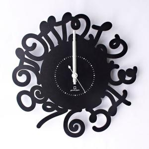 ヤマト工芸 RING LETTER ブラック YK14-106 壁掛け時計 シンプル モダン おしゃれ かわいい 掛け時計 掛時計 ウォールクロック CLOCK 時計 日本製|2e-unit