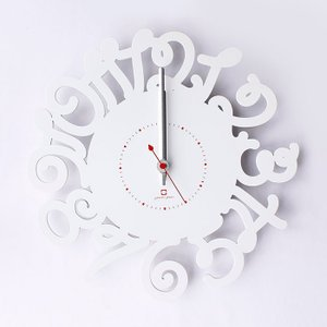 ヤマト工芸 RING LETTER ホワイト YK14-106 壁掛け時計 シンプル モダン おしゃれ かわいい 掛け時計 掛時計 ウォールクロック CLOCK 時計 日本製|2e-unit