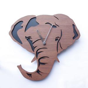 ヤマト工芸 REAL ANIMAL ゾウ 象 YK15-101 壁掛け時計 アニマル動物 子供部屋 シンプル モダン おしゃれ かわいい 掛け時計 掛時計 時計 日本製|2e-unit