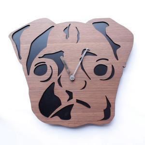 ヤマト工芸 REAL ANIMAL パグ Pug YK15-101 壁掛け時計 アニマル動物 子供部屋 シンプル モダン おしゃれ かわいい 掛け時計 掛時計 時計 日本製|2e-unit