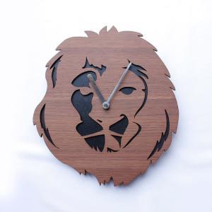 ヤマト工芸 REAL ANIMAL ライオン LION YK15-101 壁掛け時計 アニマル動物 子供部屋 シンプル モダン おしゃれ かわいい 掛け時計 掛時計 時計 日本製|2e-unit