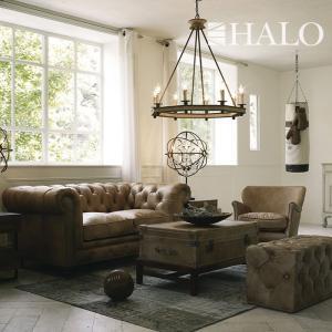 ソファ HALO (ハロー) KENSINGTON(ケンジントン)2人掛け 2P 幅180 ブラウン ブラウン デザイナーズソファ 革張り レザー レザーソファ 高級ソファ|2e-unit