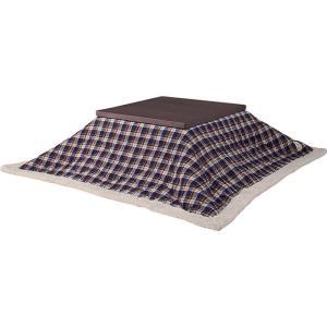 薄掛コタツ布団 正方形 チェック ポリエステル製 幅190×奥行190cm 天板サイズ80×80cm以下 2e-unit