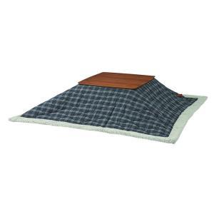 薄掛コタツ布団 正方形 ポリエステル・アクリル合皮製 幅190×奥行190cm 天板サイズ80×80cm以下 2e-unit