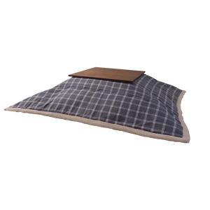 薄掛けコタツ布団 正方形 ポリエステル 幅190×奥行190cm ウィンドウ・ペンチェック  かわいい おしゃれ カジュアル シンプル 2e-unit