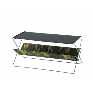 フォールディングテーブル スチール×コットン×ポリエステル 幅90×奥行41×高さ42cm  折りたたみ テーブル アウトドア|2e-unit