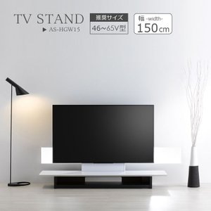 壁寄せ テレビスタンド 幅150cm フロアスタンド 150 テレビラック 壁掛け風 46〜65V型 AS-HGW15|2e-unit
