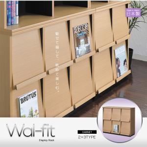 ディスプレイラック wal-fit ウォルフィット  2×3タイプ  壁面収納 幅114.5cm フ 送料無料|2e-unit