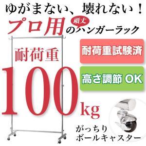 いっぱい掛けてもゆがまない!業務用 頑丈なハンガーラック 耐荷重100kg 幅115.5cm 2e-unit