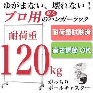 いっぱい掛けてもゆがまない!業務用 頑丈なハンガーラック 耐荷重120kg 幅135.5cm 2e-unit