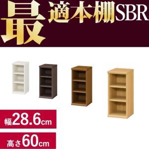 本棚 シンプル 本棚に最適な本棚 SBR幅28.6cm奥行31cm高さ60cm  レビューを書いて送料無料|2e-unit