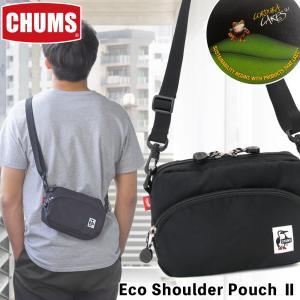 チャムス CHUMS エコショルダーポーチ ブラック|2m50cm