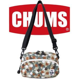 チャムス CHUMS エコショルダーポーチ 17Fフットカモ|2m50cm