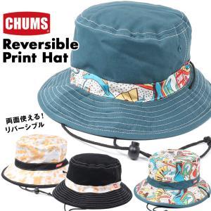 チャムス CHUMS 帽子 リバーシブル プリント ハット|2m50cm