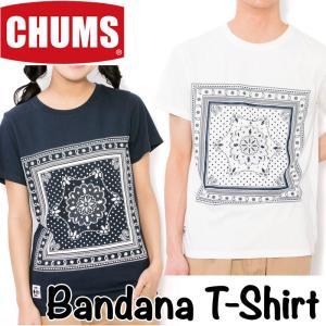 CHUMS チャムス Tシャツ Bandana T-Shirt|2m50cm