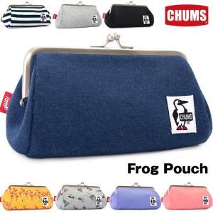 チャムス CHUMS がま口 Frog Pouch フロッグ ポーチ スウェット|2m50cm