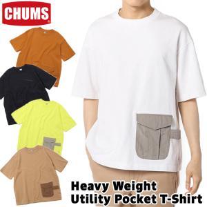 チャムス CHUMS Tシャツ Heavy Weight Utility Pocket T-Shirt ヘビーウエイト ユーティリティ ポケット Tシャツ|2m50cm
