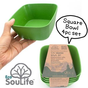 EcoSouLife Square Bowl 4個セット スクエア ボウル エコソウライフ|2m50cm
