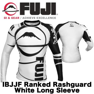 FUJI ラッシュガード Sports Freestyle IBJJF Ranked Rashguard White Long Sleeve|2m50cm