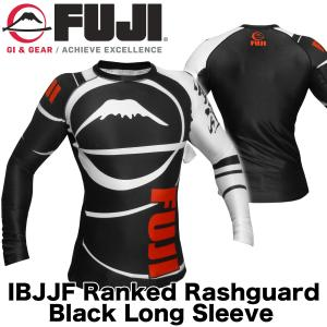 FUJI ラッシュガード FUJI Sports Freestyle IBJJF Ranked Rashguard Black Long Sleeve|2m50cm