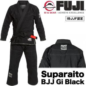 FUJI 柔術着 Suparaito BJJ Gi BLACK フジ スーパーライト ブラック|2m50cm