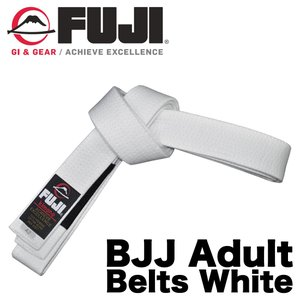 FUJI 柔術帯 BJJ Adult Belts White フジ 白帯|2m50cm