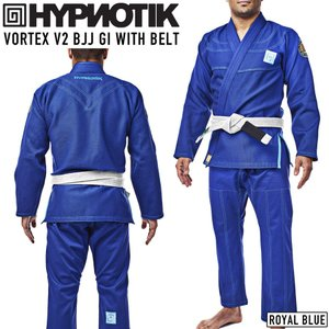 柔術着 帯付き HYPNOTIK VORTEX V2 BJJ GI WITH BELT 青 Royal Blue|2m50cm