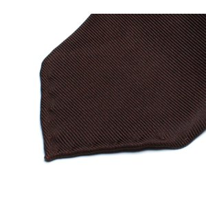 DRAKE'S『ドレイクス』英国製ネクタイ 正規取扱店 DRAKE'S-E5080R-06870-6-50ozブラウンソリッド三つ巻|2nd-selection|03