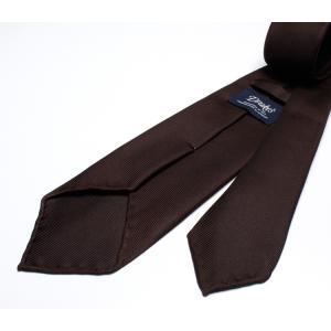 DRAKE'S『ドレイクス』英国製ネクタイ 正規取扱店 DRAKE'S-E5080R-06870-6-50ozブラウンソリッド三つ巻|2nd-selection|04