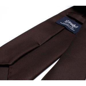 DRAKE'S『ドレイクス』英国製ネクタイ 正規取扱店 DRAKE'S-E5080R-06870-6-50ozブラウンソリッド三つ巻|2nd-selection|05