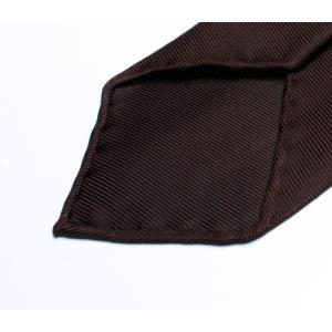 DRAKE'S『ドレイクス』英国製ネクタイ 正規取扱店 DRAKE'S-E5080R-06870-6-50ozブラウンソリッド三つ巻|2nd-selection|06