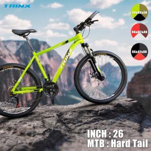 マウンテンバイク カッコいい 21段変速 26インチ MTB ディスクブレーキ バーエンドバー 標準搭載 自転車 通勤 通学 TRINX(トリンクス) M136 2ndcycle