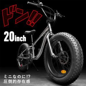 ファットバイク 自転車 雪道 砂浜 シルバー メッキ 20インチ 極太タイヤ シマノ 7段変速 Wディスクブレーキ 街乗り アウトドア EIZER F120 2ndcycle